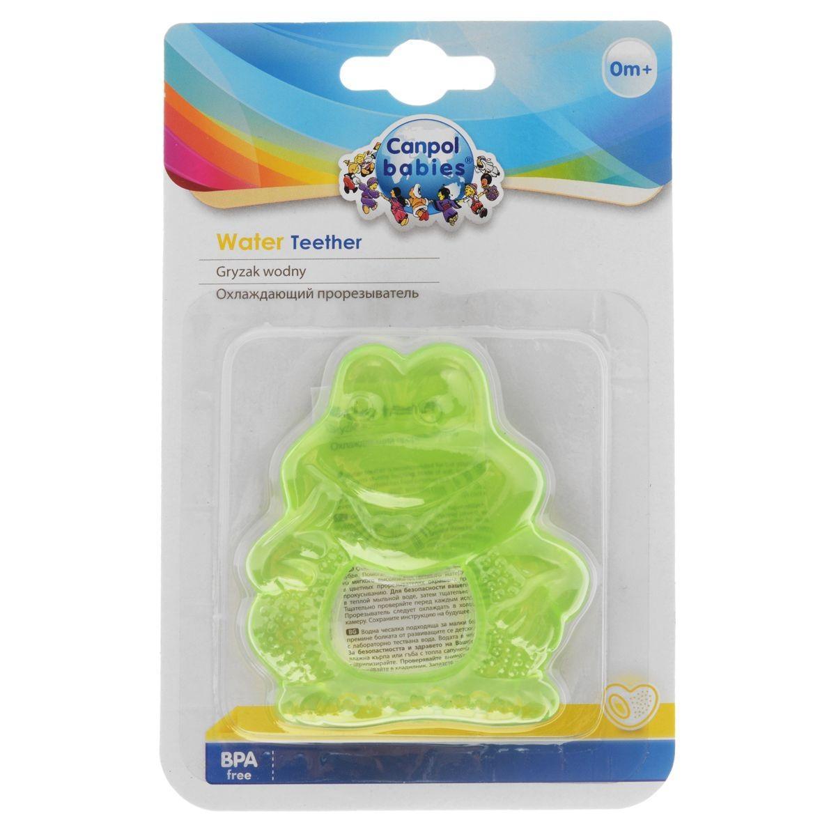 Прорезыватель Canpol Babies Лягушонок, охлаждающий, цвет: зеленый canpol babies прорезыватель охлаждающий ягодка цвет красный