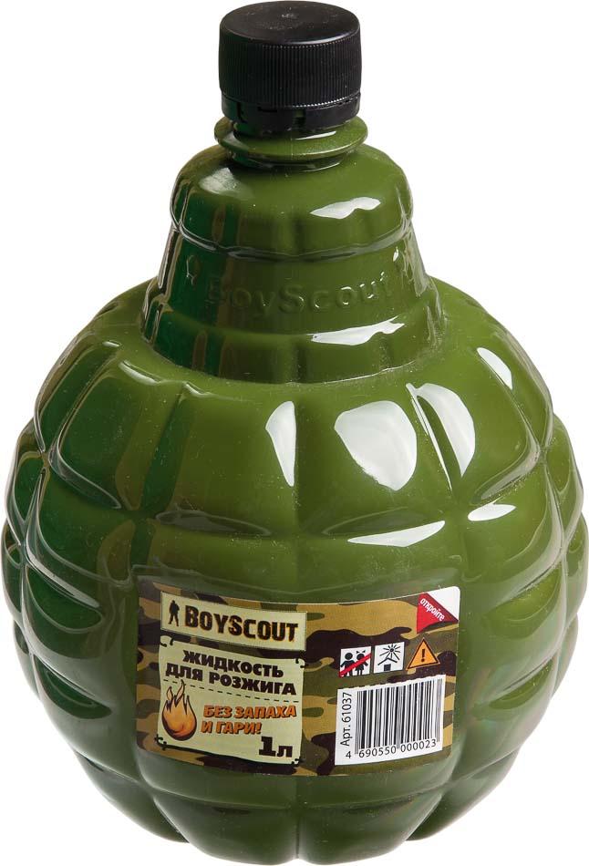 Жидкость для розжига Boyscout, парафиновая, 1 л61037Парафиновая жидкость Boyscout предназначена для розжига древесного угля, дров, топливных брикетов. Не имеет запаха и гари.