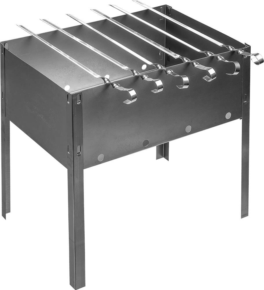 Мангал сборный Boyscout, 6 шампуров, 35 см х 25 см х 35 см 6123561235Сборный переносной мангал Boyscout изготовлен из нержавеющей стали. Предназначен для приготовления мяса, птицы, рыбы, овощей на открытом воздухе. На мангале можно расположить 6 шампуров. Мангал хорошо поддерживает жар, не требуя большого количества топлива. Простота и легкость конструкции мангала обеспечивают его быструю сборку и длительную эксплуатацию. В разобранном виде мангал очень компактен, благодаря чему он не занимает много места, например, в багажнике автомобиля. В комплекте к мангалу прилагается набор из 6 шампуров.Размер мангала: 35 см x 25 см x 35 см.Длина шампура: 37 см.