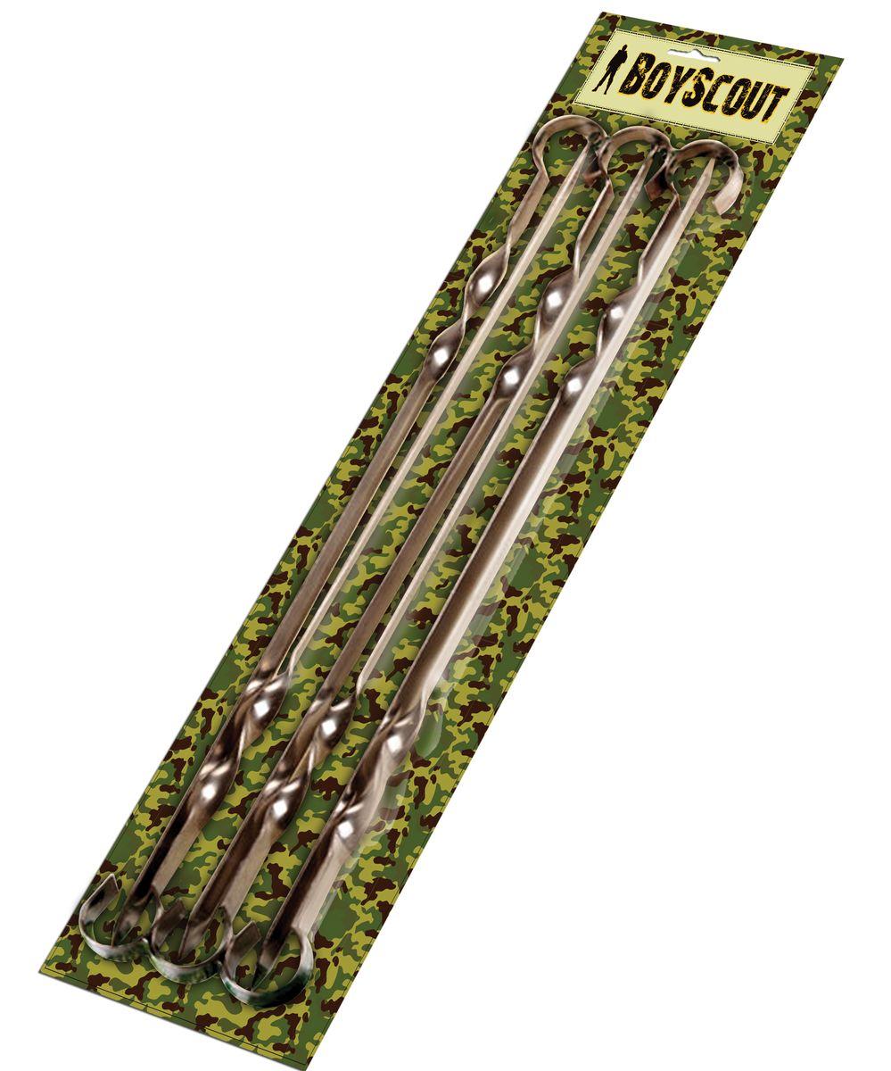 Набор плоских шампуров Boyscout, длина 45 см, 6 шт61326Набор Boyscout состоит из 6 плоских шампуров, предназначенных для приготовления шашлыка. Изделия выполнены из высококачественной пищевой нержавеющей стали. Функциональный и качественный набор шампуров поможет вам в приготовлении вкусного шашлыка на открытом воздухе. Длина шампура: 45 см. Ширина лезвия: 1 см. Толщина лезвия: 0,2 см. Комплектация: 6 шт.