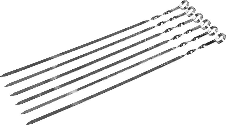 Шампуры плоские Boyscout, 45 см, 6 шт шампуры двойные boyscout с деревянной ручкой 33 см 4 шт
