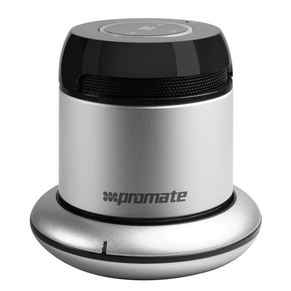 Promate bluRock2, Silver Bluetooth-динамик00007342bluRock2 представляет собой портативный Bluetooth® динамик для всех мобильных и планшетных устройств, мобильная гарнитура для ответа на звонки,а также беспроводную зарядку для Вашего мобильного телефона. Все это умещается в маленьком, стильном корпусе. Отличительной особенностью данного гаджета также является дополнительный аудио вход.Идеально подходит для использования с планшетами, смартфонами и прочими аудио аксессуарами. Легкий и портативный - этот мини-динамик способен порадовать ценителей удивительным по качеству звуком. Улучшенный встроенный усилитель и настроенный вакуумный бас. Использует порт Micro USB для подзарядки.