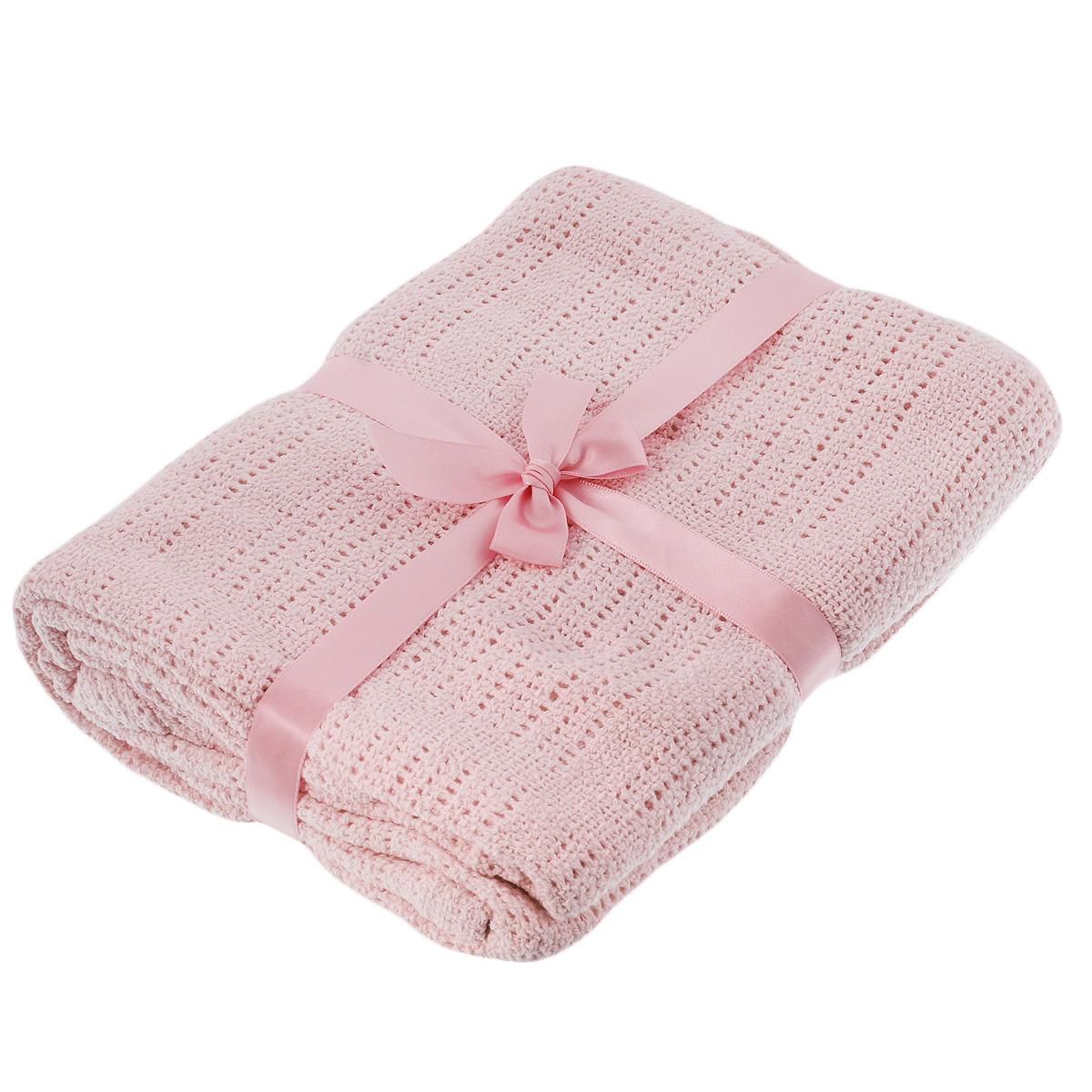 Одеяло детское Baby Nice, вязаное, цвет: розовый, 90 см x 120 смD30612