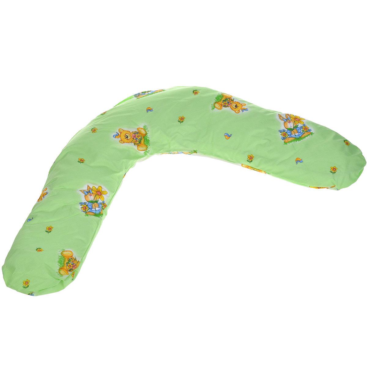 Подушка для кормления Selby, универсальная, цвет: салатовый. 55365536салатовыйУниверсальная подушка Selby идеально подходит для малышей с рождения, а также для женщин во время беременности и периода кормления ребенка грудью. Выполнена из хлопка с изображением медвежат, внутри - мягкий наполнитель из полистирола. Подушка поддерживает ребенка, когда он лежит на животике, что очень полезно для развития мускулатуры спины и рук. Во время беременности подушка обеспечивает будущей маме комфортное положение во время сна и отдыха, поддерживает живот и уменьшает прогиб позвоночника. Во время кормления грудью подушка дает возможность удобно держать ребенка на уровне груди, способствует уменьшению усталости рук и спины. Чехол на молнии, поэтому легко снимается и стирается. Машинная стирка (60°С) и деликатный отжим. Список вещей в роддом. Статья OZON Гид
