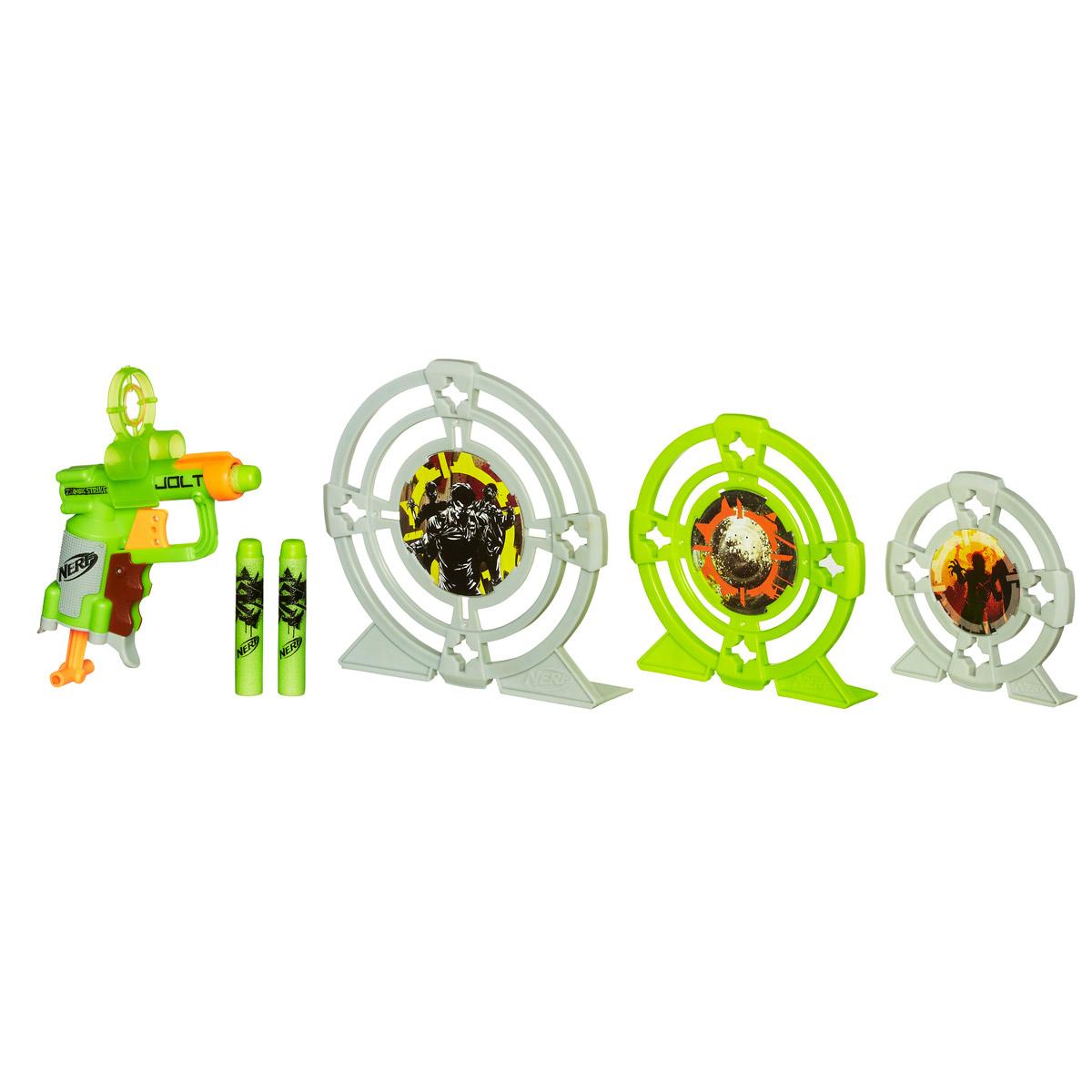 Nerf Бластер Zombie Strike, с мишенями hasbro игрушка nerf бластер зомби двойная атака