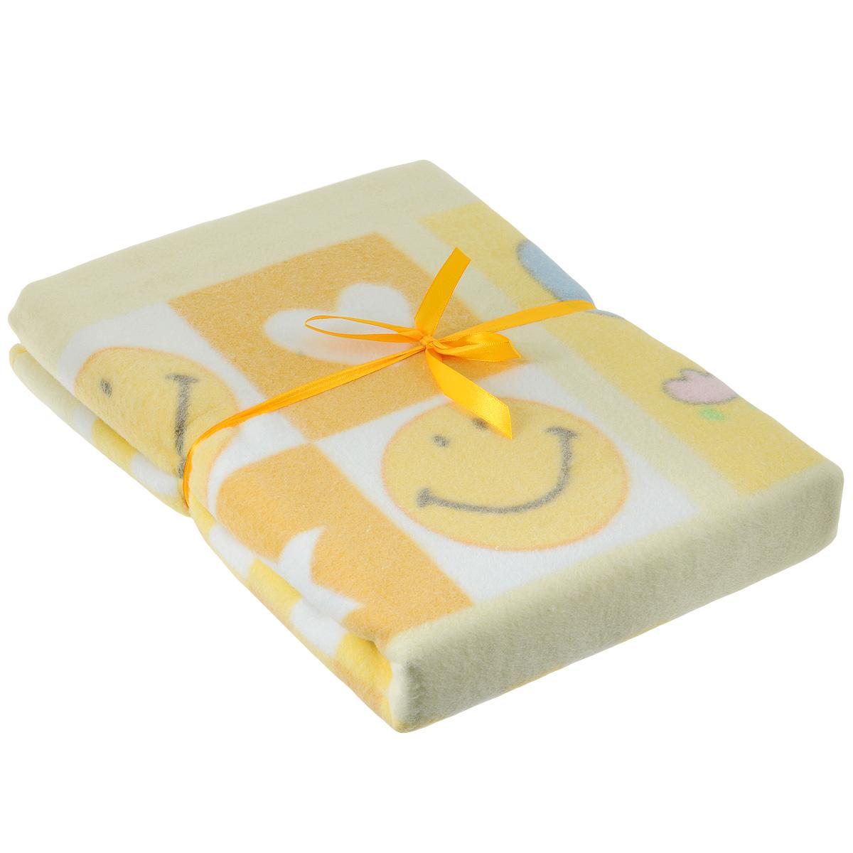 Одеяло детское Baby Nice Солнышки, байковое, цвет: желтый, 100 см x 140 смD311511