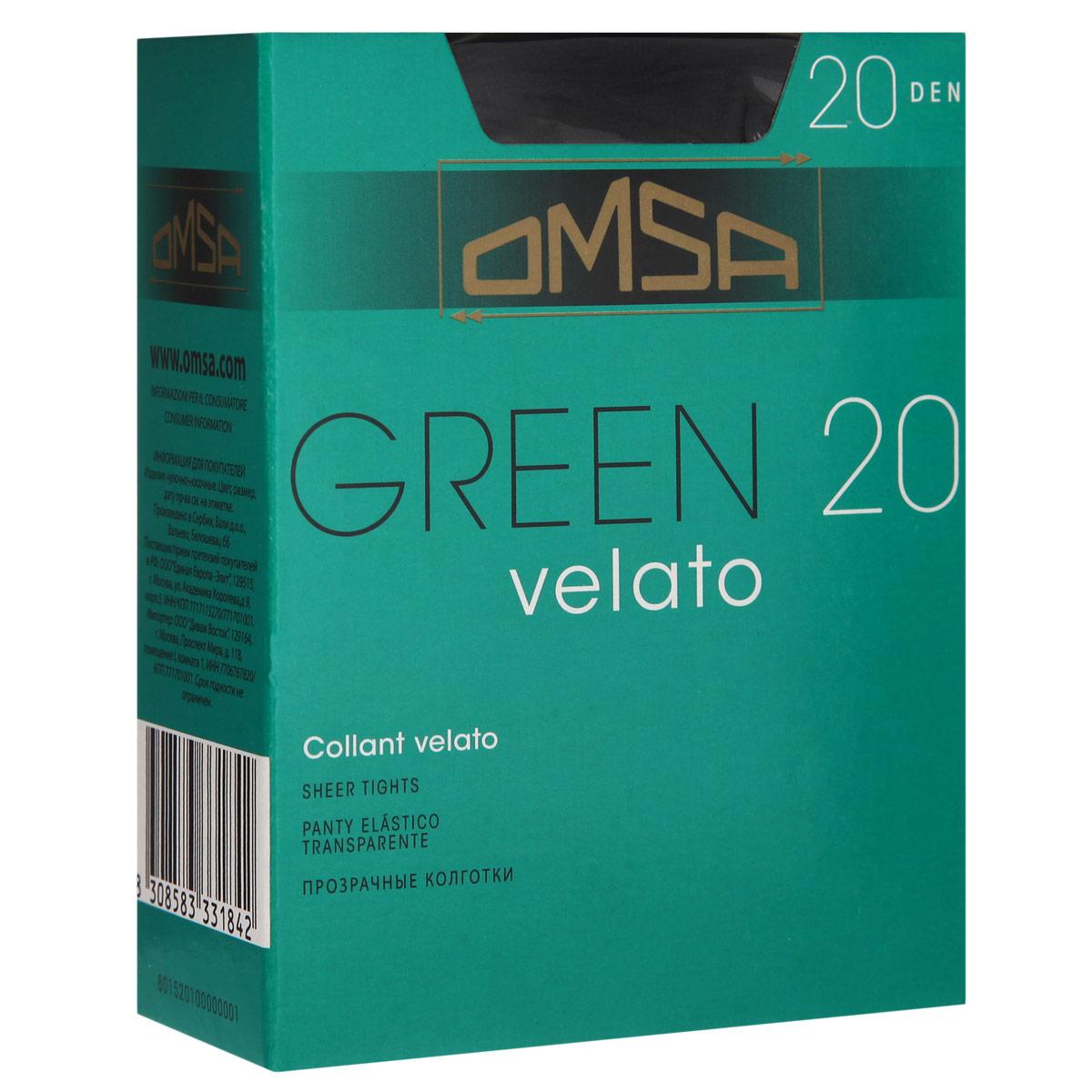 Колготки Omsa Green 20. Nero (черный). Размер 4-L