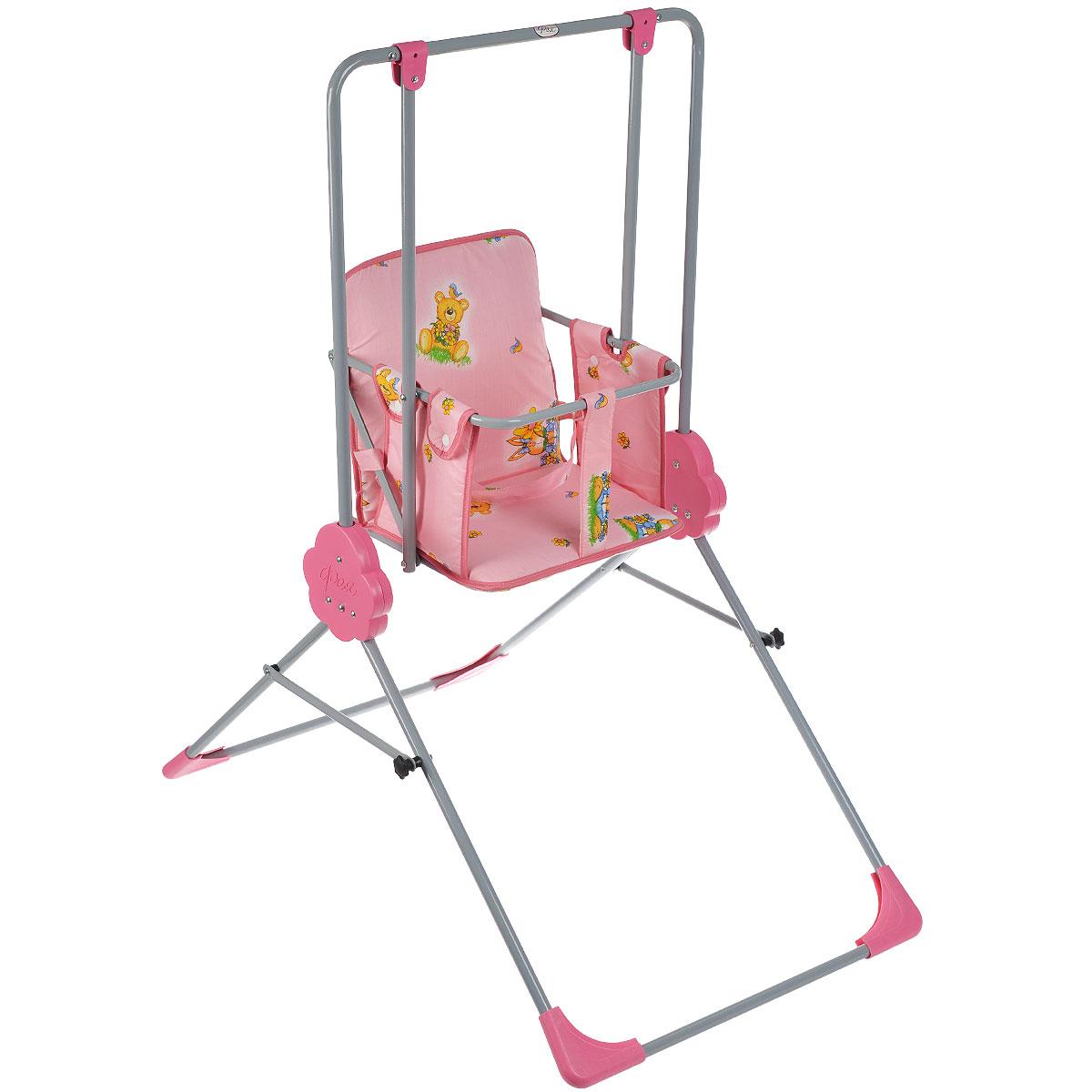Качели детские Фея Малыш, цвет: розовый детские платья и сарафаны idea kids платье фея