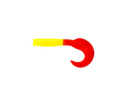 Приманка съедобная Твистер Allvega Flutter Tail Grub, цвет: желтый, красный, 8 см, 3,6 г, 7 шт51277Allvega Flutter Tail Grub - это твистер классической формы с трепетной, невесомой игрой хвоста. Соблазнительный пищевой объект для окуня и некрупной щуки. Сочетается со всеми видами спиннинговых оснасток, но особенно хорош на отводном поводке. Дополнительную привлекательность приманке придает использование в составе активной биодобавки и специального ароматизатора.Вес: 3,6 г.Длина: 8 см.