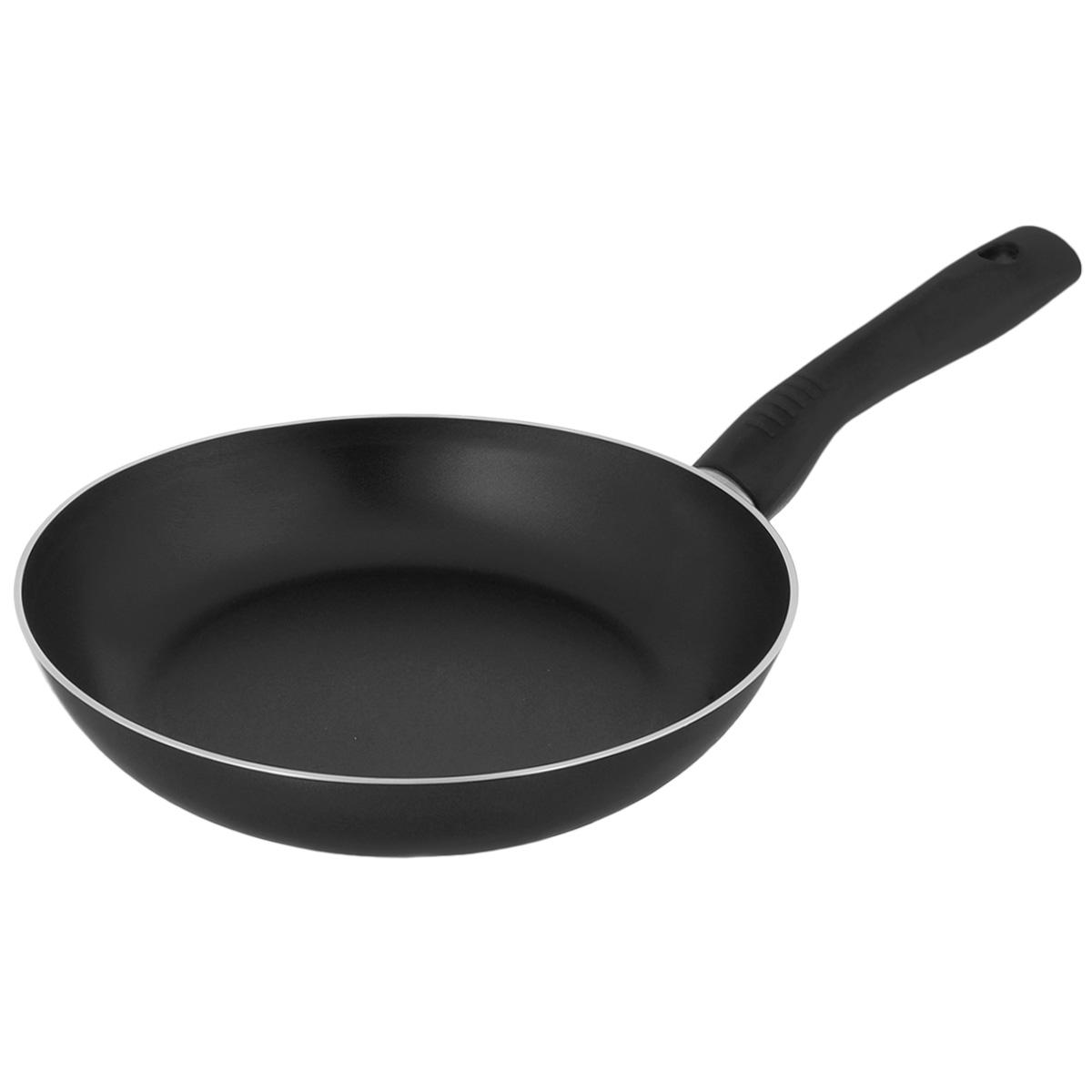 Сковорода TVS Basilico, с антипригарным покрытием, цвет: черный. Диаметр 26 см сотейник tvs basilico с двумя ручками цвет черный диаметр 24 см