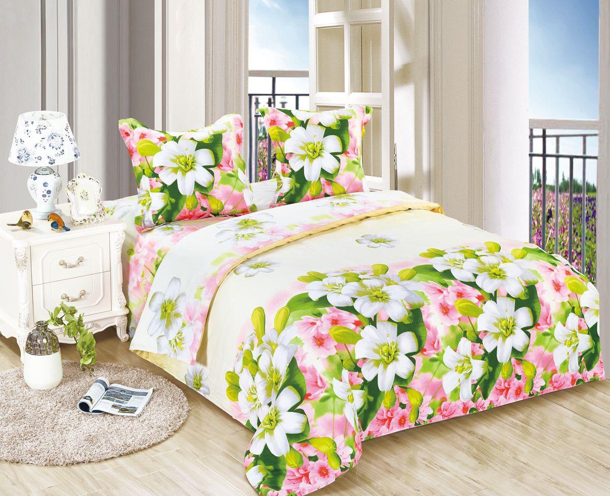 Комплект белья Amore Mio ET Veselie, 2-спальное. 7009270092Amore Mio – Комфорт и Уют - Каждый день! Amore Mio предлагает оценить соотношению цены и качества коллекции.Разнообразие ярких и современных дизайнов прослужат не один год и всегда будут радовать Вас и Ваших близких сочностью красок и красивым рисунком. Белье Amore Mio – лучший подарок любимым! Поплин – европейский аналог бязи. Это ткань самого простого полотняного плетения с чуть заметным рубчиком, который появляется из-за использования нитей разной толщины. Состоит из 100% натурального хлопка, поэтому хорошо удерживает тепло, впитывает влагу и позволяет телу дышать. На ощупь поплин мягче бязи. Благодаря использованию современных методов окраски, не линяет и его можно стирать при температуре до 40°C. Пододеяльник-180*215, Простыня-200*220, наволочки-70*70(2шт)