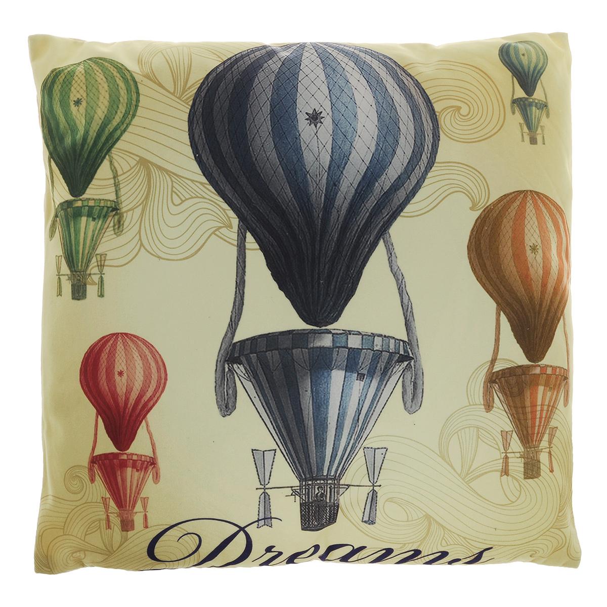 Подушка декоративная Феникс-презент Воздушные шары, 45 х 45 см37389Декоративная подушка Феникс-презент Воздушные шары прекрасно дополнит интерьер спальни или гостиной. Чехол подушки выполнен из полиэстера. Лицевая сторона украшена фотопечатью с изображением воздушных шаров. Оборотная сторона - бежевого цвета. Внутри - мягкий наполнитель из синтетического хлопка. Чехол легко снимается благодаря потайной молнии.Красивая подушка создаст атмосферу уюта в доме и станет прекрасным элементом декора.