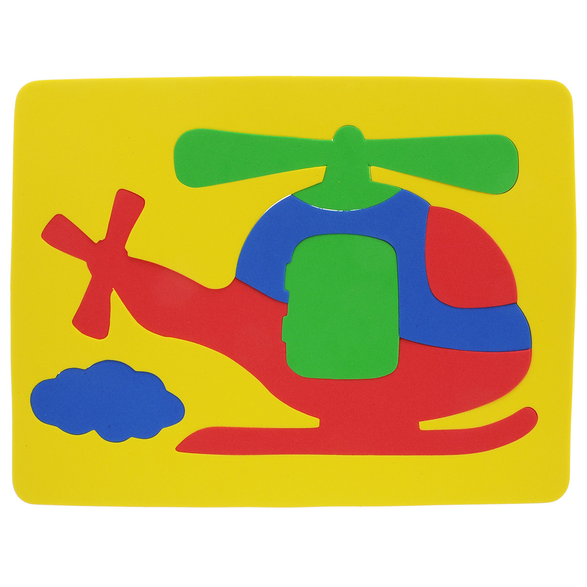 Фантазер Пазл для малышей Вертолет цвет основы желтый