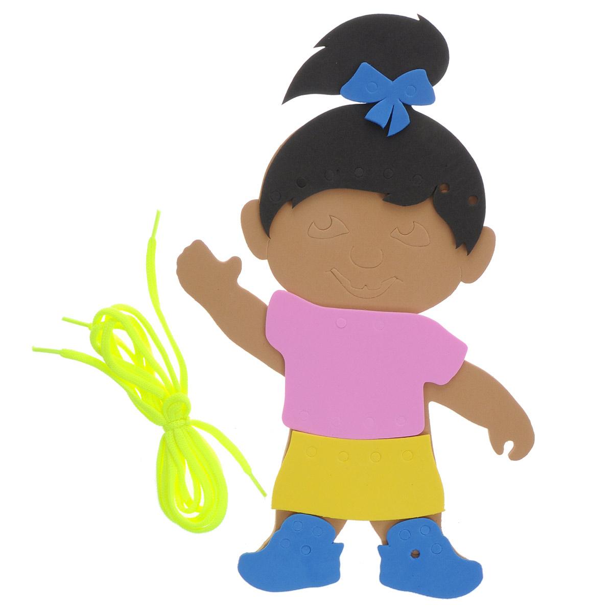 Фантазер Игра-шнуровка Девочка набор для лепки фантазер глина голубая 217011