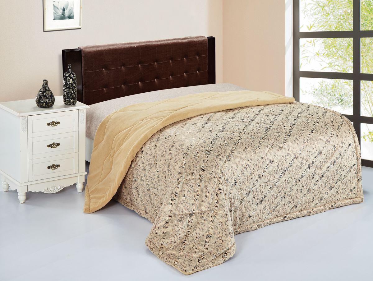 Покрывало Magic Dreams, цвет: бежевый, коричневый, 200 см х 230 см. 72203