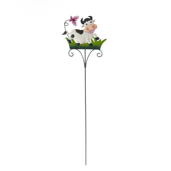 Опора для растений декоративная Village People Танцующая корова, высота 59 см67167Опора Village People Танцующая корова не только создаст надежную опору растениям, но и украсить ваш сад яркими красками. Идеально подходит для декорирования садового участка, грядок, клумб, а также для поддержки и правильного роста декоративных растений. Такое украшение очень просто вставляется в землю с помощью длинной ножки, оно отлично переносит любые погодные условия и прослужит долгое время.Размер коровы: 17 см х 13,5 см.Высота: 59 см.