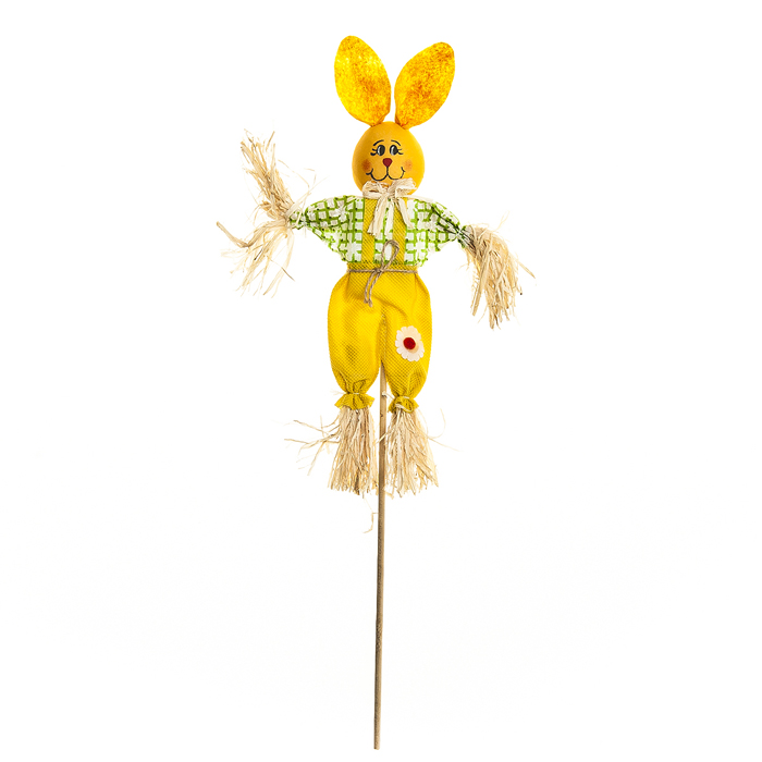 Украшение на ножке Village People Соломенный зайчик, цвет: желтый, высота 50 см66940_1Украшение на ножке Village People Соломенный зайчик предназначено для отпугивания птиц и декорирования садового участка, грядок, клумб. Изделие представляет собой деревянный стержень с симпатичным соломенным зайчиком, легко устанавливается в землю. Оно украсит ваш сад и добавит ярких красок.Высота: 50 см.