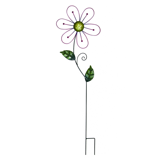 Украшение на ножке Village People Ажурные цветы, цвет: зеленый, высота 82 см. украшение на ножке village people приветливая бабочка высота 50 см