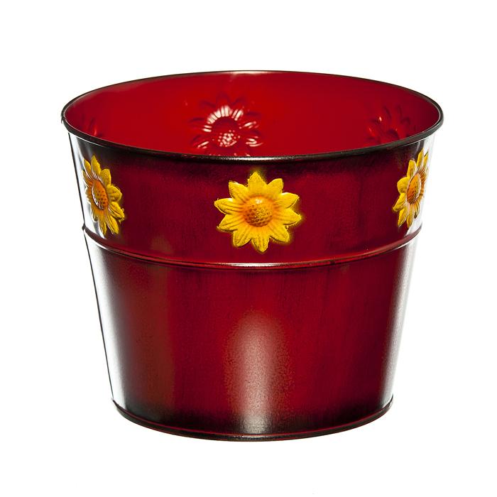 Кашпо декоративное Village People Цветок солнца, цвет: красный, диаметр 18 см67063_3Декоративное кашпо Village People Цветок солнца выполнено из металла и оформлено рельефным цветочным изображением. Оригинальное кашпо предназначено для выращивания цветов, трав, растений. Благодаря такому кашпо вы сможете украсить вашу комнату, офис, сад и другие места. Диаметр кашпо: 18 см. Высота кашпо: 14,5 см.