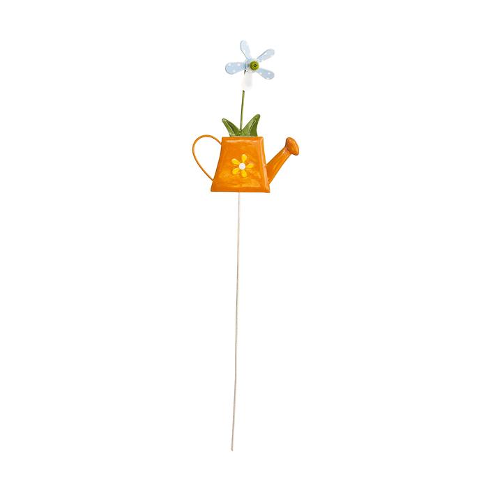 Украшение на ножке Village People Веселая клумба, цвет: оранжевый, высота 29 см. 67159_2 украшение на ножке village people соломенные веселые цветы цвет зеленый 66945 1