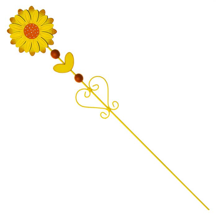 Украшение на ножке Village People Цветущая поляна, цвет: желтый, высота 60 см68478_1Украшение на ножке Village People Цветущая поляна поможет вам дополнить экстерьер красивой и яркой деталью. Такое украшение очень просто вставляется в землю с помощью длинной ножки, оно отлично переносит любые погодные условия и прослужит долгое время. Идеально подходит для декорирования садового участка, грядок, клумб, домашних цветов в горшках, а также для поддержки и правильного роста декоративных растений.Диаметр цветка: 9,5 см. Высота: 60 см.