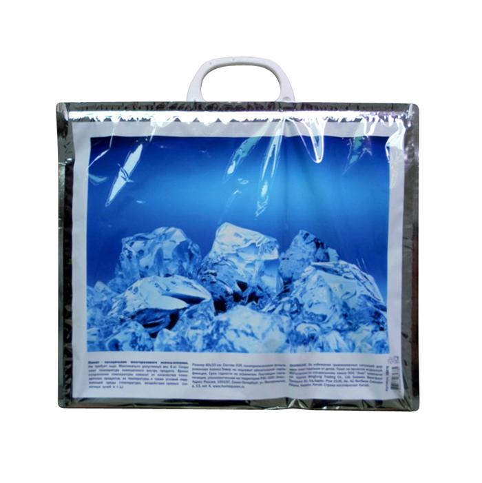 Термопакет Home Queen Лед, 40 х 33 см58478_2Удобный и практичный пакет-холодильник многоразового использования Home Queen Лед изнутри покрыт специальным отражающим материалом и создан для того, чтобы как можно дольше сохранить еду свежей. Надежные застежки удобны в использовании, позволяют моментально закрыть пакет и не дадут ему случайно открыться.Яркий принт делает этот пакет оригинальным аксессуаром.Размер: 40 см х 33 см.