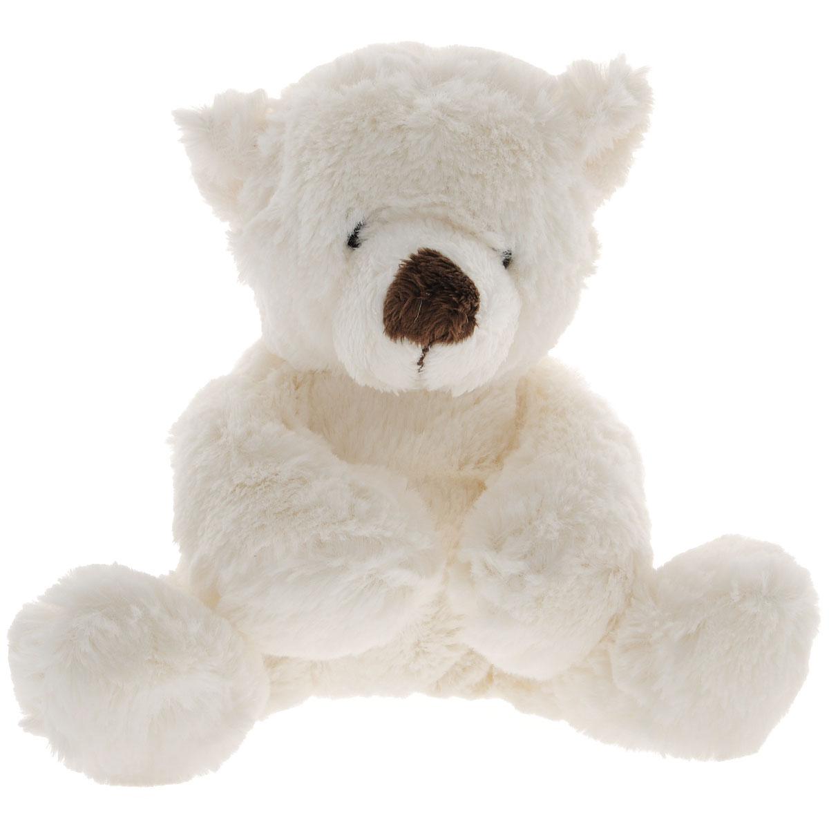 """Gulliver Мягкая игрушка """"Медведь белый"""", лежачая, 26 см"""