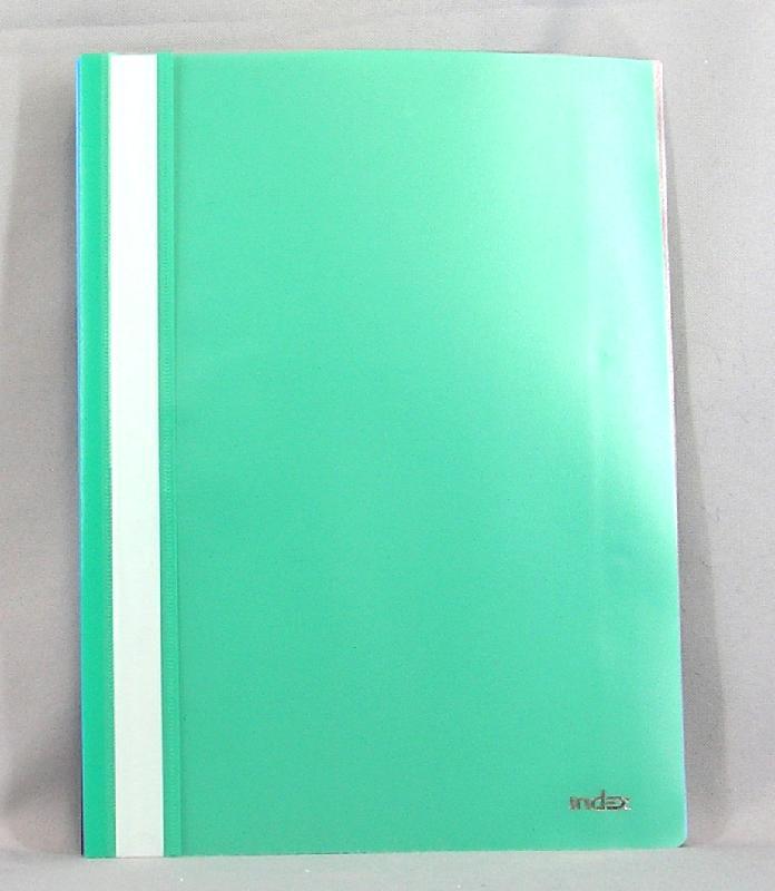 Index Папка-скоросшиватель цвет зеленый 20 шт папка скоросшиватель durable duraplus с прозрачным верхним листом и с карманом ассорти 5шт