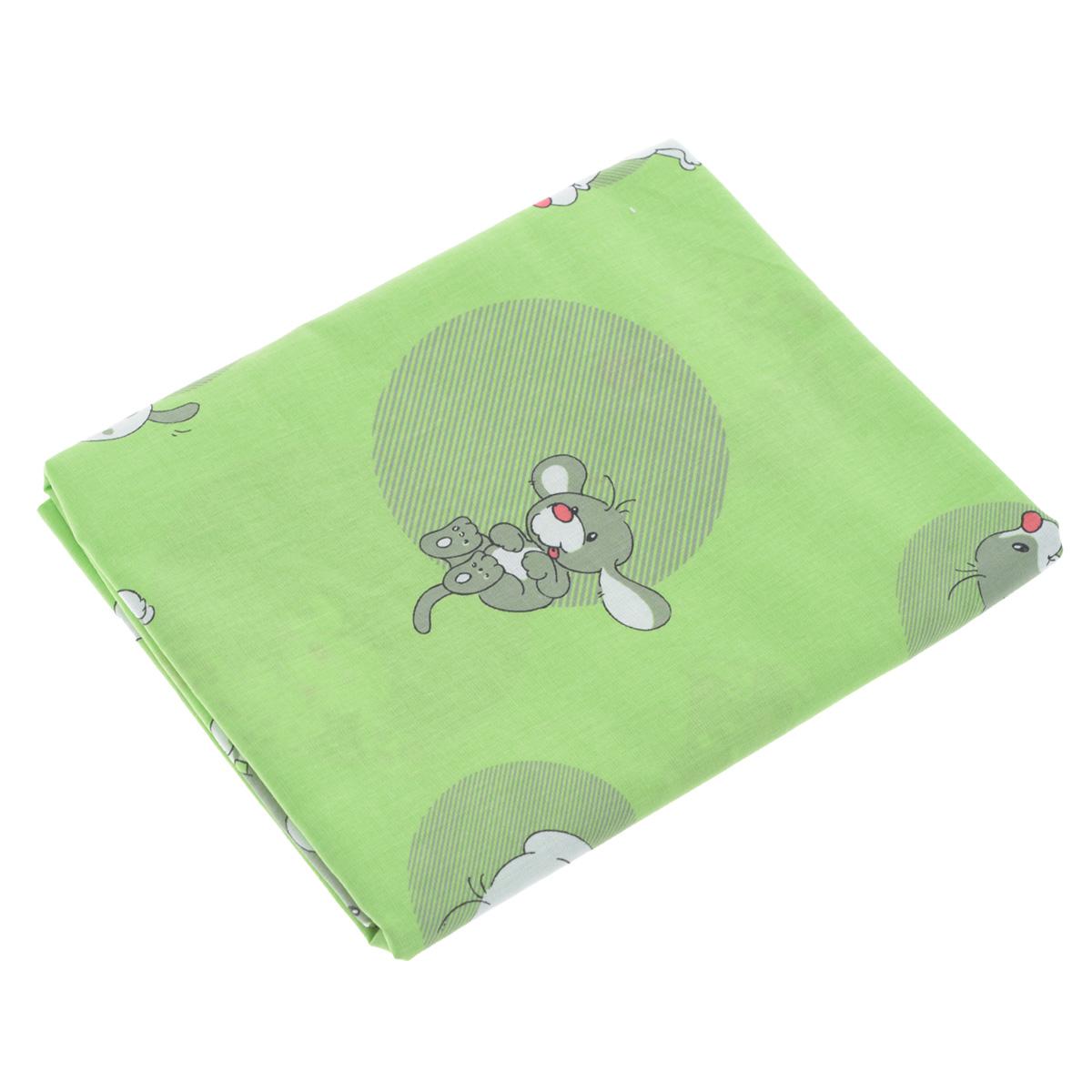 """Пододеяльник детский Фея """"Наши друзья"""", цвет: зеленый, 110 см х 140 см"""