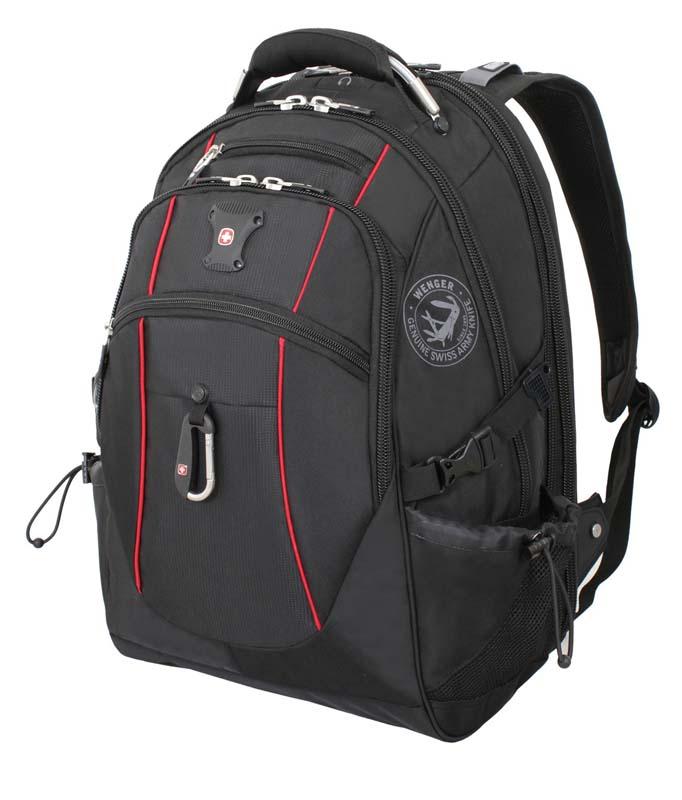 Рюкзак городской Wenger, цвет: черный, красный, 34 см x 23 см x 48 см, 38 л6677202408Высококачественный и стильный, надежный и удобный, а главное прочный рюкзак Wenger. Благодаря многофункциональности данный рюкзак позволяет удобно и легко укладывать свои вещи.Особенности рюкзака:3 внешних кармана на молнии 2 внешних регулируемых сетчатых кармана для бутылок с водой Боковая молния для быстрого доступа к ноутбуку Большое основное отделение Внешний карабин Внутренний карман на молнии Возможность крепления на чемодане Отделение для 17 ноутбука с системой ScanSmart Карман-органайзер для мелких предметов Металлические застежки молний с пластиковыми вставками Мягкая перегородка отделения для ноутбука Карман на липучке для планшетного компьютера с диагональю до 38 см Внутренне отстегивающееся кольцо для ключей Петля для очков Поясничная поддержка рюкзака Регулируемые плечевые ремни Внутренний сетчатый карман на молнии для хранения аксессуаров ноутбука Стягивающие ремни Усиленная мягкая ручка для переноски Эргономичная спинка с системой циркуляции воздуха Airflow.