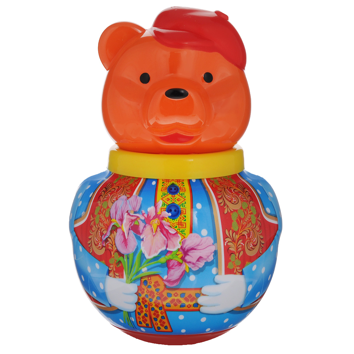 Неваляшка Stellar Бурый медведь Потапыч , 16 см, в ассортименте, Стеллар, Первые игрушки  - купить со скидкой