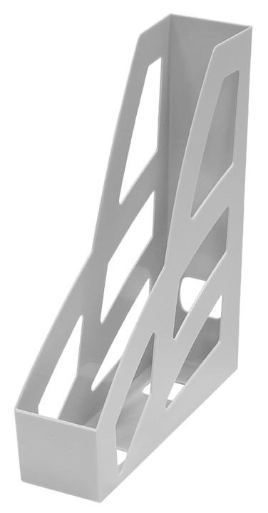 """Лоток для бумаг вертикальный Стамм """"Лидер"""", цвет: серый. ЛТ121"""