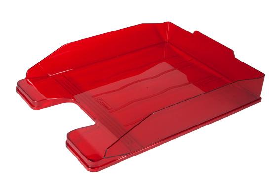 Лоток для бумаг горизонтальный Стамм Эксперт, прозрачный, цвет: вишневый. ЛТ206ЛТ207Горизонтальный лоток для бумаг Стамм Эксперт предназначен для хранения бумаг и документов формата А4. Лоток с оригинальным дизайном корпуса поможет вам навести порядок на столе и сэкономить пространство.Лоток изготовлен из прочного пластика. Приподнятая фронтальная часть лотка облегчает изъятие документов из накопителя. Несколько лотков можно ставить друг на друга как строго прямо, так и со смещением. Лоток для бумаг станет незаменимым помощником для работы с бумагами дома или в офисе, а его стильный дизайн впишется в любой интерьер. Благодаря лотку для бумаг, важные бумаги и документы всегда будут под рукой.