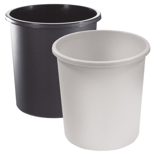 Корзина для бумаг  Стамм , цвет: черный, 18 л. КР41 -  Корзины для бумаг
