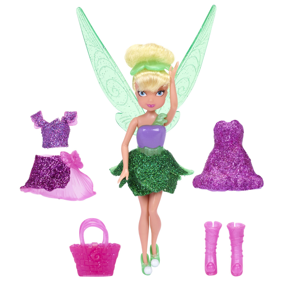 Disney Fairies Мини-кукла Tink's Pixie Sparkle Fashions women genuine leather bag messenger bags tote handbags famous brands high quality shoulder bag ladies designer luxury boston