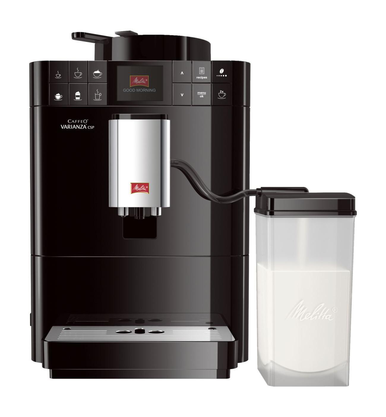 Melitta Caffeo F 570-102 Varianza CSP, Black кофемашина6708795MISSION eco & careМы разработали лэйбл, который помогает потребителям в выборе продукции,гарантирующей ощутимоенаслаждение. В основе данного лэйбла лежит разработанная нами система ценностейMy Bean SelectMy Bean Selectот Melitta позволяет Вам свободно выбирать тип зерна из всего многообразия, доступного с каждой новой чашкой кофе. Наряду со стандартным контейнером для зерен, эта инновация даст Вам возможность попробовать различные типы зерен для каждой новой чашки. Это действительно просто с практичной мерной ложечкой, входящей в комплектСистема Best Aroma System PLUSечать Aromasafe на контейнере для зерен означает, что вкус и аромат кофейных зерен надежно сохранены. Функция Bean to Cup обеспечивает помол и варку только того количества зерен, которое Вам необходимо. Кофемолка работает до полного опустошения, тем самым предотвращая смешивание различных сортов зерен. Уникальные процессы предварительного замачивания и экстракции (A.E.S.) гарантируют превосходное раскрытие вкуса и аромата кофеКомпактная конструкция, современный дизайнКофемашина Caffeo Varianza устанавливает новые стандарты компактности. Форма куба впечатляет визуально и, кроме того, очень компактна, поэтому Вы сможете найти подходящее место для кофемашины в любом местеФункция One TouchЕсли Вы захотите приготовить одну из шести запрограммированных разновидностей кофе, теплое молоко, молочную пенку или горячую воду – сделайте это всего одним нажатием10 сортов кофеБлагодаря кнопкам управления, вы можете выбрать один из 4 классических рецептов – эспрессо, кафе крема, капучино и латте макиато нажатием одной кнопки. Используя функцию рецепта, Вы можете приготовить 6 дополнительных разновидностей кофе: ристретто, лунго, американо, эспрессо макиато, латте, кофе с молокомОригинальный процесс приготовленияприготовление кофе требует соблюдения определенной последовательности добавляемых ингредиентов. Так, например, для приготовления Latte Macchiato эспр