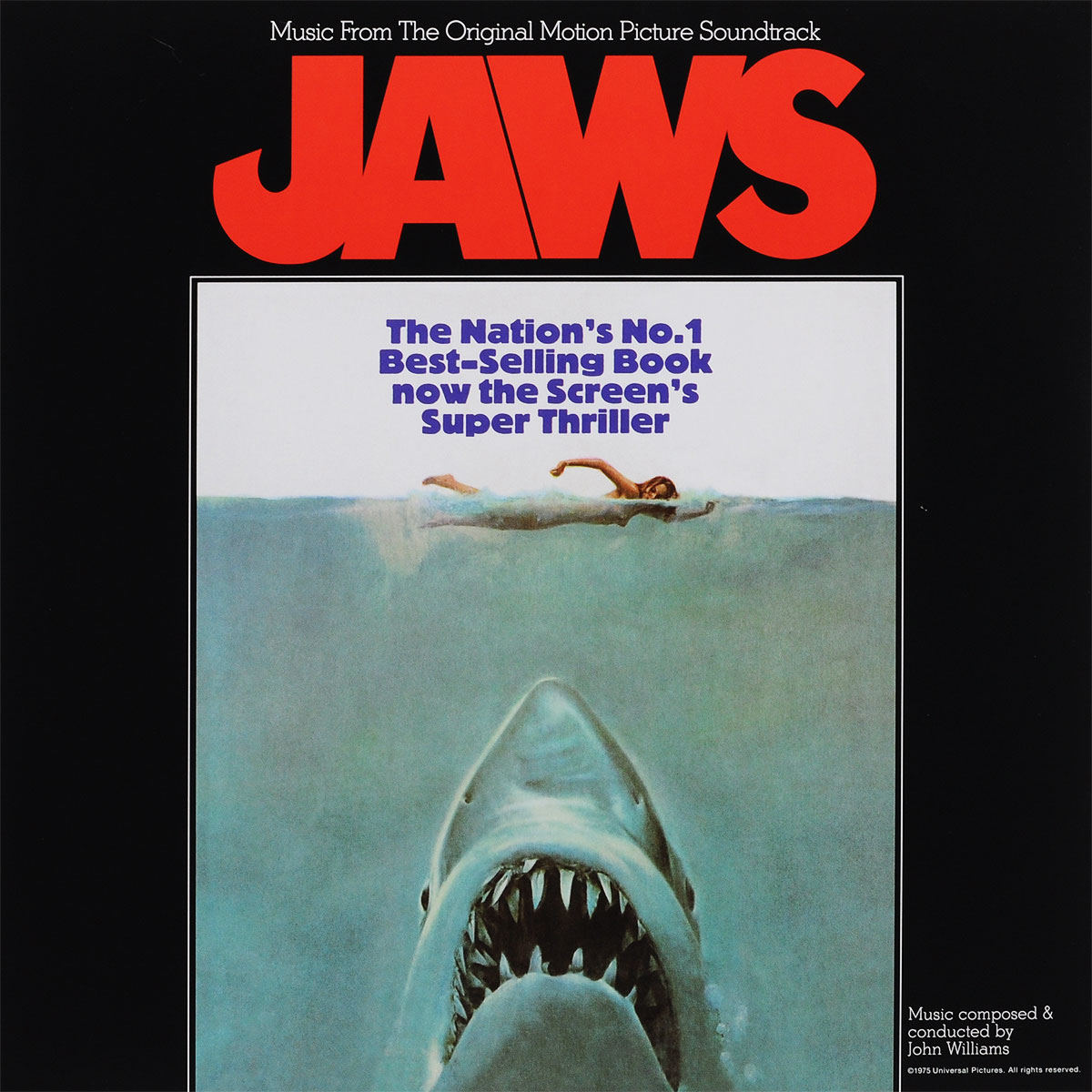 Jaws. Original Motion Picture Soundtrack (LP) spectre original motion picture soundtrack original music by thomas newman lp