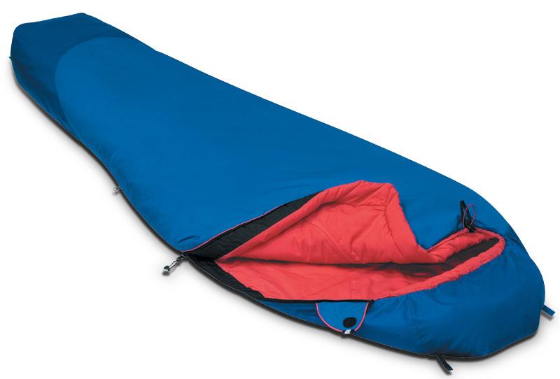 Спальный мешок Alexika Travel, левосторонняя молния цвет: синий