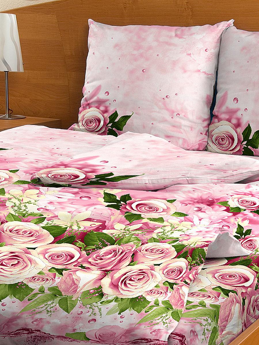Комплект белья Letto, 2-спальное, наволочки 70х70, цвет: розовый. В40-4 комплект белья letto 2 спальное наволочки 70х70 цвет сиреневый в39 4