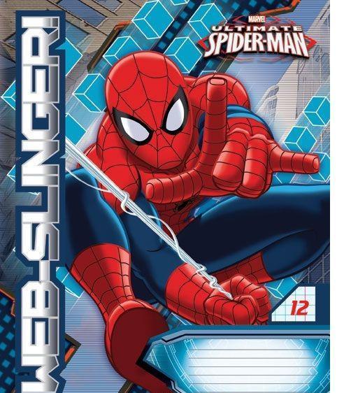 Spider-Man Набор тетрадей в клетку, 12 листов, формат А5, 10 шт125035