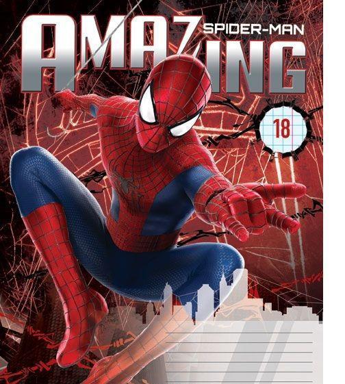 Spider-Man Набор тетрадей в линейку, 18 листов, формат А5, 10 шт пластилин spider man 10 цв