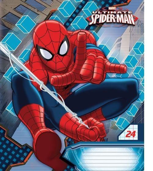 Spider-Man Набор тетрадей в линейку, 24 листа, формат А5, 10 шт пластилин spider man 10 цв