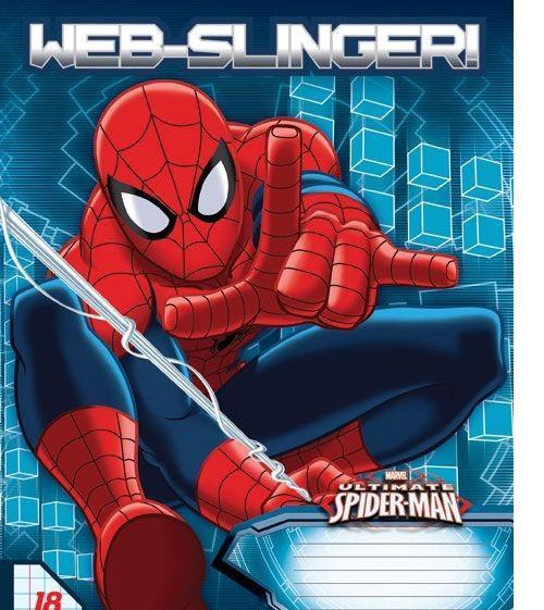 Spider-Man Набор тетрадей в линейку, 18 листов, формат А5, 10 шт125090