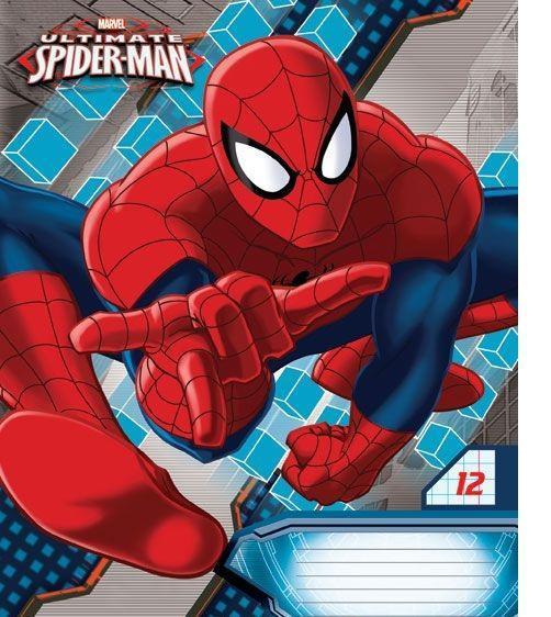 Spider-Man Набор тетрадей в линейку, 12 листов, формат А5, 10 шт125037