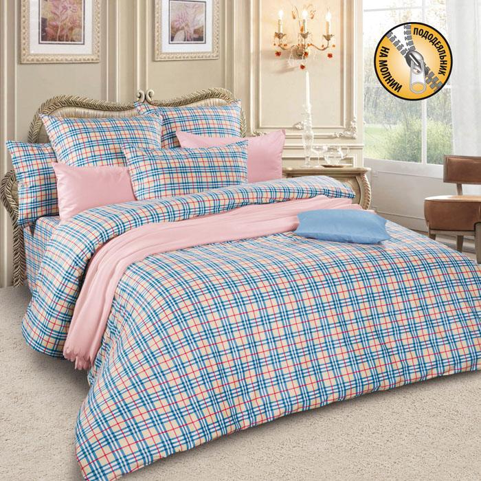 Комплект белья Letto, 2-спальный, наволочки 70х70, цвет: бежевый. sm57-4 комплект белья letto 2 спальный наволочки 70х70 цвет коричневый b21 4