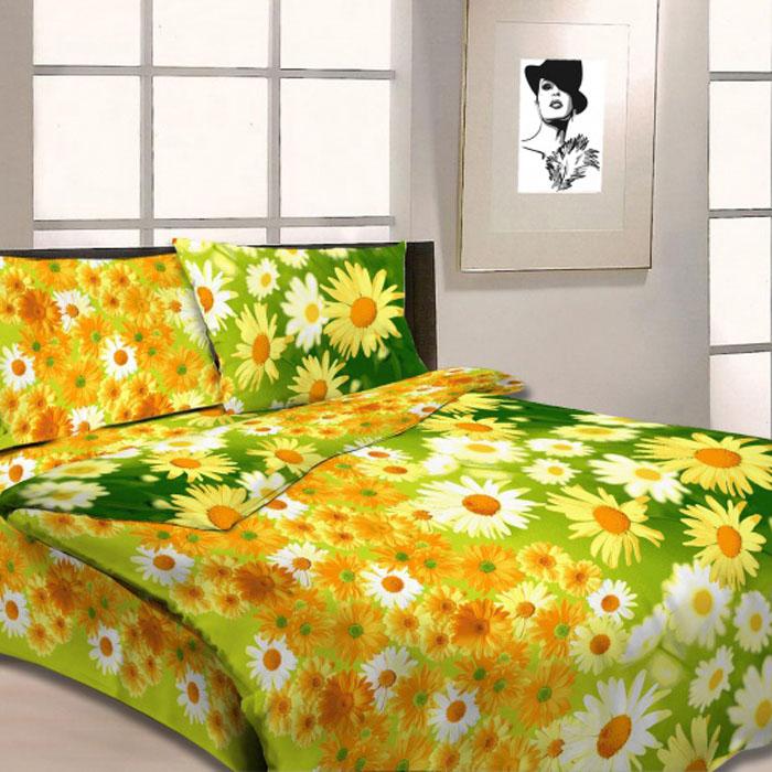 Комплект белья Letto, 1,5-спальный, наволочки 70х70, цвет: желтый. B05-3