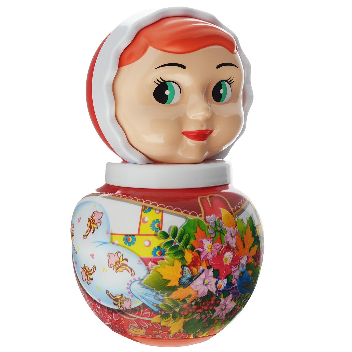 Stellar Неваляшка Аленушка цвет красный белый мягкие игрушки spiegelburg кролик неваляшка baby gluck