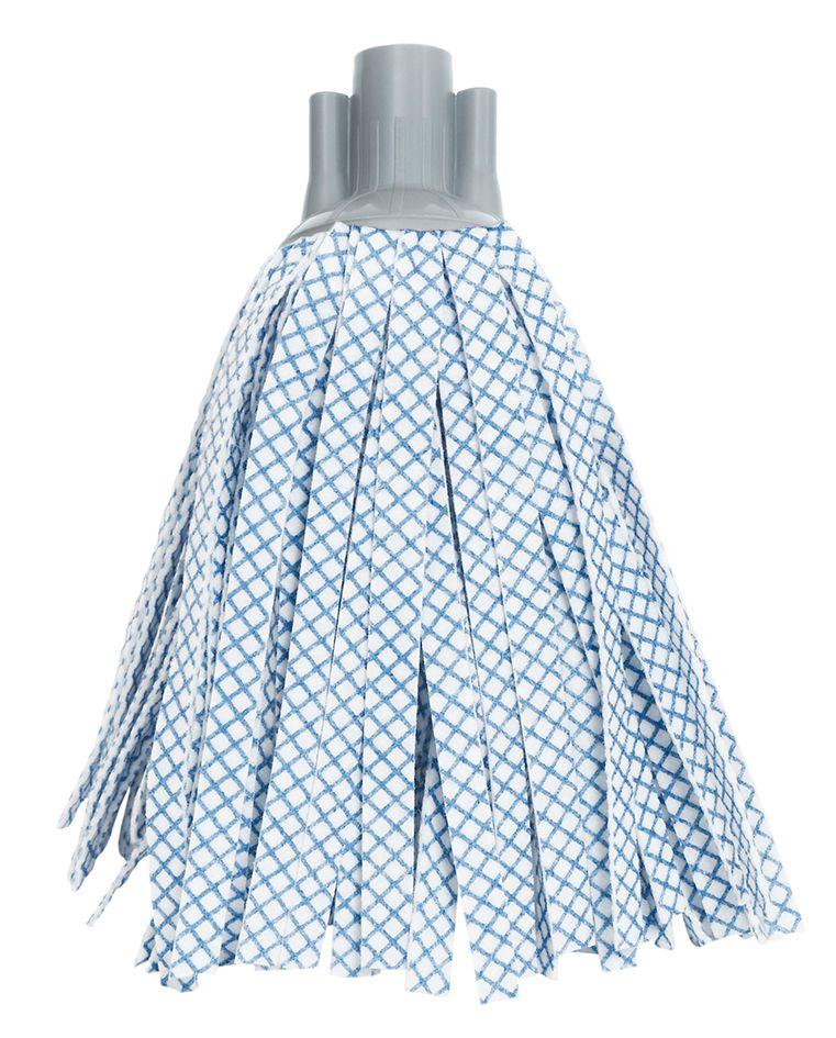 Насадка сменная для швабры Apex Basic, цвет: белый, синий10514-AСменная насадка Apex Basic, изготовленная из полиэстера и вискозы, крепится к трубке швабры. Она чистит даже самые трудные загрязнения с разных поверхностей. Предназначена как для влажной, так и для сухой уборки. Позволяет подметать и мыть одновременно.Длина насадки: 29 см. Состав: 50% полиэстер, 50% вискоза.