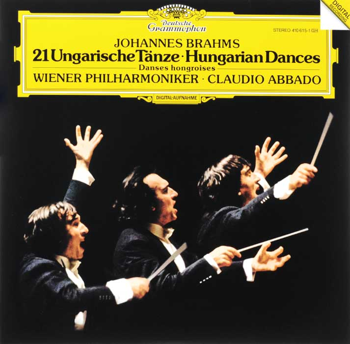 Claudio Abbado. Wiener Philharmoniker. Johannes Brahms. Hungarian Dances (LP)