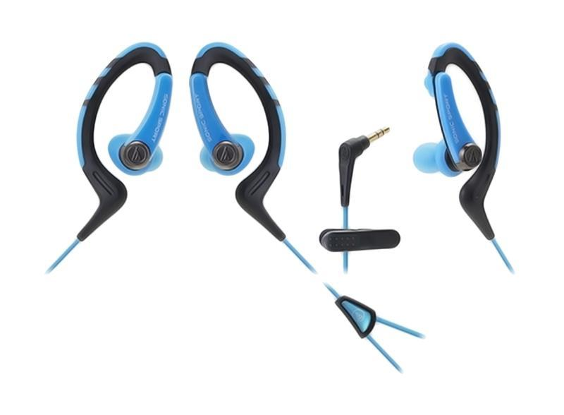 Audio-Technica ATH-Sport1, Blue наушникиATH-SPORT1 BLНаушники-аксессуар, идеальны для занятий спортом Удобное гибкое резиновое крепление за ухомДолгие часы динамичного звучанияВлагозащита уровня IXP5Укороченный кабель с клипсой